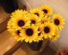 ひまわりの造花を使って、ダイソーなどの100円均一激安おしゃれアレンジ!